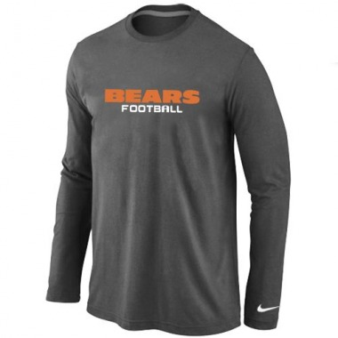 Men's Nike Cincinnati Bengals Font Long Sleeve T-Shirt - - Dark Grey Authentic