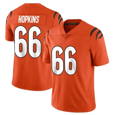 Men's Nike Cincinnati Bengals Trey Hopkins Vapor Untouchable Jersey - Orange Limited