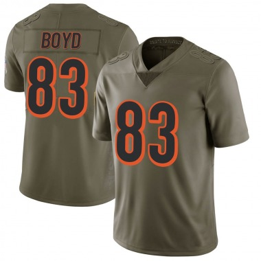 Youth Nike Cincinnati Bengals Tyler Boyd 2017 Salute to Service Jersey - Green Limited